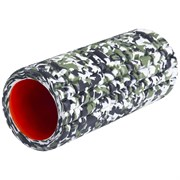 Starfit PRO FA-508 Ролик массажный низкая жесткость 33x14 cм Зеленый камуфляж/Оранжевый