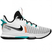 Nike LEBRON WITNESS V Кроссовки баскетбольные Белый/Голубой/Черный