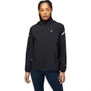 Asics LITE-SHOW JACKET (W) Куртка ветрозащитная беговая женская Черный/Серый